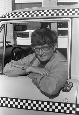 Mary C. Peppler, 29, was one of 25 women taxi drivers in Fort Wayne in 1970.