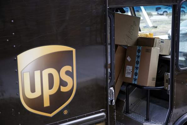 FILE - In this Dec. 19, 2018, file photo packages await delivery inside of a UPS truck in Baltimore. (AP Photo/Patrick Semansky, FIle)