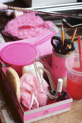 Props in the show contain plenty of pink, a favorite color of main character Elle Woods.