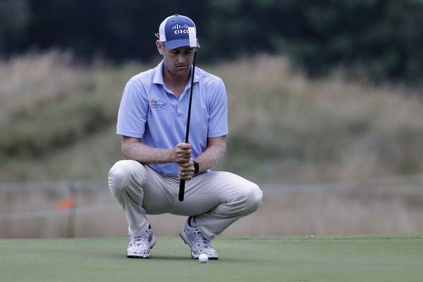Associated Press Brendon Todd lines up a putt Friday during the World Golf Championship-FedEx St. Jude Invitational in Memphis, Tenn.