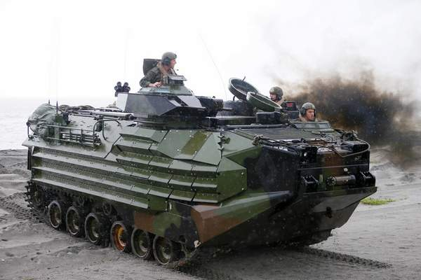Associated Press An Amphibious Assault Vehicle, similar to this one pictured in 2016, was involved in an accident that has taken the life of one Marine, injured two others and left eight missing Thursday.