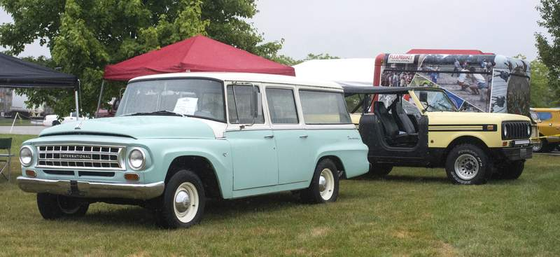 Michelle Davies | The Journal Gazette  A variety of vehicles produced by International Harvester were on display at Saturday's Homecoming, held at the former Scout factory on Meyer Road.