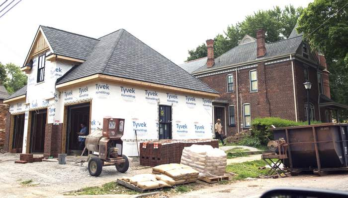 Michelle Davies | The Journal Gazette Construction work is being done in the West Central Neighborhood, where home prices have soared.