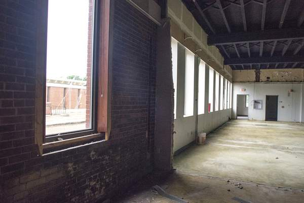 Michelle Davies | The Journal Gazette Original brickwork has been incorporated into the STEAM School planned at the Electric Works project.