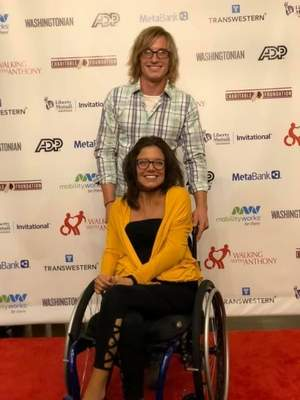 Courtesy photos Randy and Erica Predum attend a Spinal Cord Injury Foundation fundraiser and golf tournament last year in Virginia. Erica was injured in a car accident in 2007, and just last month, Randy suffered a spinal injury in a fall.
