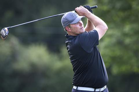 Mike Moore | The Journal Gazette Heath Peters shot a 71 on Sunday and heads into today's final round in second place.