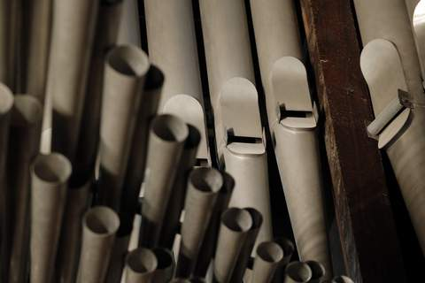 France Notre Dame FILE - This This May 2, 2013 file photo shows organ pipes at Notre Dame cathedral in Paris. (AP Photo/Christophe Ena, File) (Christophe Ena