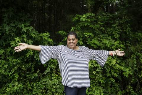 America Disrupted Black Women Rising Power Bev Jackson, chair of the Democratic Party's Cobb County African American caucus, poses for a portrait on Friday, July 24, 2020, in Marietta, Ga. (AP Photo/Brynn Anderson) (Brynn Anderson STF)