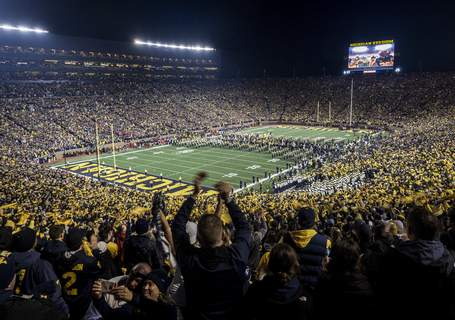 Virus Outbreak Michigan Football Associated Press photos The University of Michigan said fewer fans, if any, will attend games at The Big House if the Wolverines play college football this year. The athletic department says a final decision will be made after conferring with several entities. (Tony DingFRE)