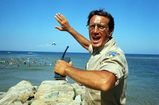 """Film-Vintage Box Office Universal Pictures Roy Scheiderstars in the iconic 1975 film """"Jaws."""" With all major new releases postponed until at least Labor Day weekend due to the pandemic, summer moviegoing has belonged to the classics. (HONS)"""