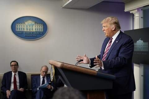 Emirates Israel FILE - In this Wednesday, Aug. 12, 2020 file photo, President Donald Trump speaks at a news conference at the White House, in Washington. (AP Photo/Andrew Harnik, File) (Andrew Harnik STF)