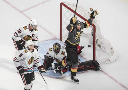 Golden Knights Blackhawks Hockey Associated Press
