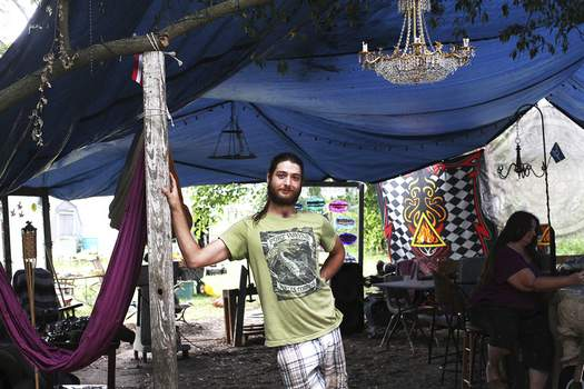 Katie Fyfe | The Journal Gazette Rowan Greene is organizing a late-night market at his family's property on Howell Street tonight that is rooted in the anti-waste philosophy of permaculture.