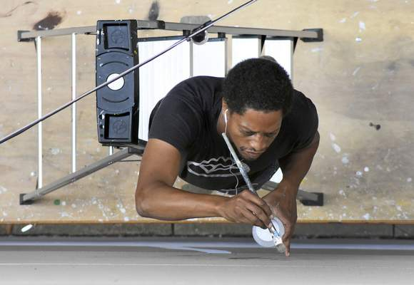 File Artist Shawn Dunwoody, from Rochester, N.Y., who created a piece in downtown Fort Wayne last year, will install a mural in Columbia City during Make It Your Own Mural Fest. The event will start Tuesday and go through Sept. 18.
