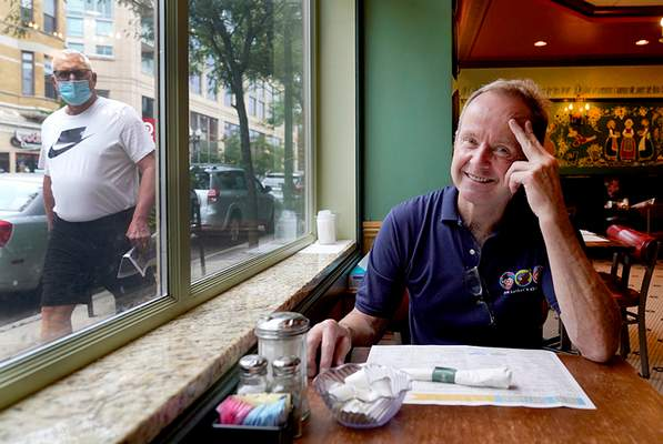 Associated Press Chicago restaurant owner Tom Tunney estimates he's put $250,000 of his own money into running his three Ann Sather restaurants. Social distancing requirements have curtailed revenue.