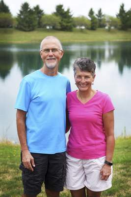 Katie Fyfe | The Journal Gazette RetiredNorthrop High School science teachers Bill and Amy Hollenberg cited health as a big factor in their decision not to return to the classroom this year.