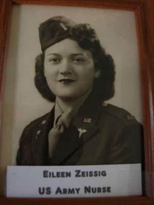 Zeissig served as an Army nurse, enlisting when she was 23.