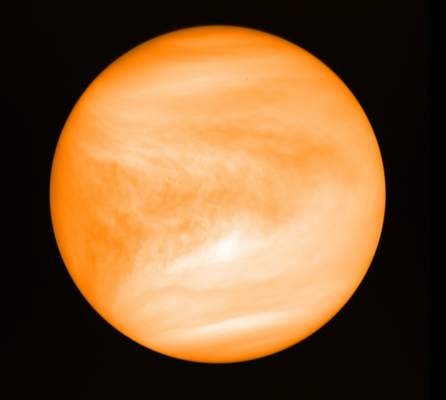 J. Greaves/Cardiff University/JAXA via AP Astronomershave spotted the chemical signature of phosphine, a gas associated with microbial life, high in the atmosphere of Venus.