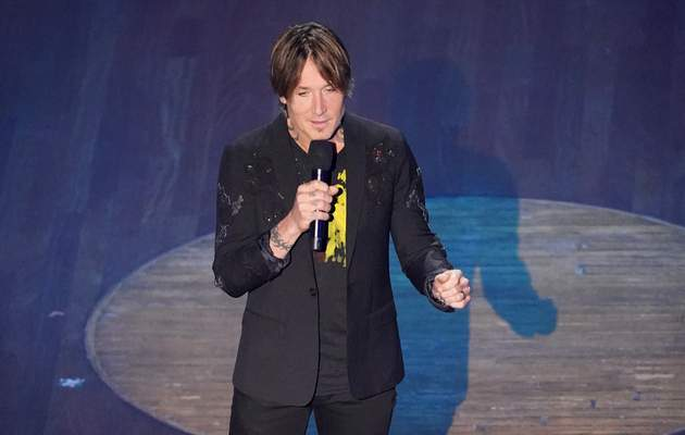 Associated Press Keith Urban speaks during the  Academy of Country Music Awards on Wednesday in Nashville, Tenn.