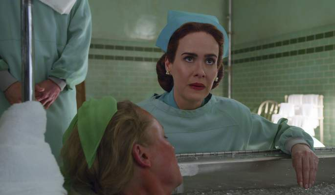 Netflix  SARAH PAULSON as MILDRED RATCHED in RATCHED