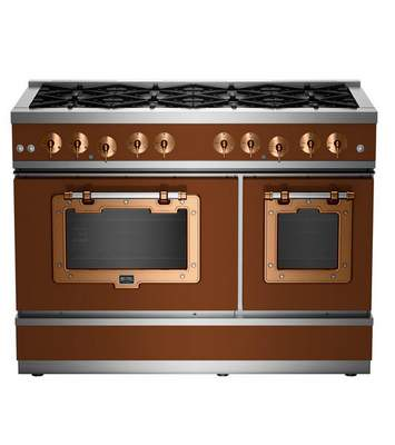 Big Chill  This photo rendering shows Big Chills range in a brown tone. Ready to make more of a commitment to the brown trend? Then consider Big Chill's fridge, range or dishwasher in Fawn Brown or Ocher Brown, with copper trim. (Big Chill via AP)
