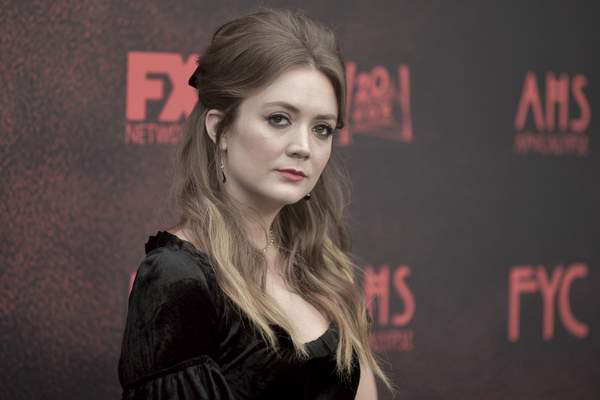 FILE - In this Saturday, May 18, 2019 file photo, Billie Lourd attends American Horror Story: Apocalypse FYC event at NeueHouse Hollywood in Los Angeles. (Photo by Richard Shotwell/Invision/AP, File)