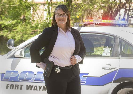 Michelle Davies | The Journal Gazette Liza Anglin is the Fort Wayne Police Department's only female homicide detective.