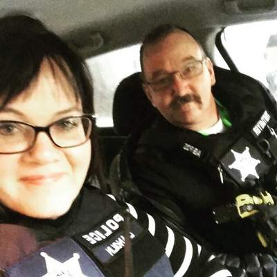 Courtesy Liza Anglin, left, and Scott Tegtmeyer are partners on the FWPD.