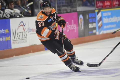 Mike Moore | The Journal Gazette  Shawn Szydlowski, the Komets' players' association representative, would like local officials to allow more fans at Memorial Coliseum to ensure a season as soon as possible. (The_Journal_Gazette)