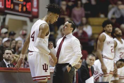 Princeton Indiana Basketball Associated Press Indiana coach Archie Miller, Trayce Jackson-Davis and the rest of the Hoosiers return to practice today. (Darron CummingsSTF)