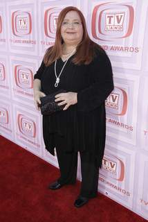 """Obit Conchata Ferrell FILE - Conchata Ferrell arrives at the TV Land Awards on April 19, 2009, in Universal City, Calif. Ferrell, who became known for her role as Berta the housekeeper on TV's """"Two and a Half Men,"""" has died. Ferrell was 77. A publicist says the actor died in Sherman Oaks, Calif. following cardiac arrest, with her family at her side. (AP Photo/Matt Sayles) (Matt Sayles STF)"""