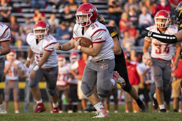 Josh Gales | The Journal Gazette Adams Central, which canceled last week's game because of COVID-19, hopes to play its season finale tonight.