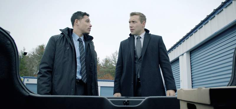 This image released by Open Road Films shows Anthony Ramos, left, and Jai Courtney in a scene from Honest Thief. (Open Road Films via AP)