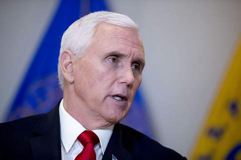 Election 2020 Pence FILE: Vice President Mike Pence speaks during a coronavirus task force meeting at the Department of Health and Human Services, Thursday, Feb. 27, 2020, in Washington. (AP Photo/Andrew Harnik) (Michael PerezFRE)