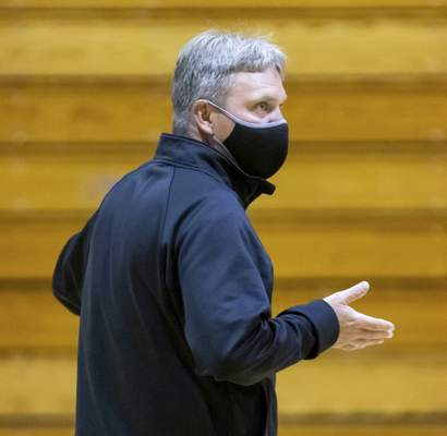 Rachel Bellwood | The Journal Gazette Homestead coach Rod Parker has just three weeks to get his team for the opener against Carmel.