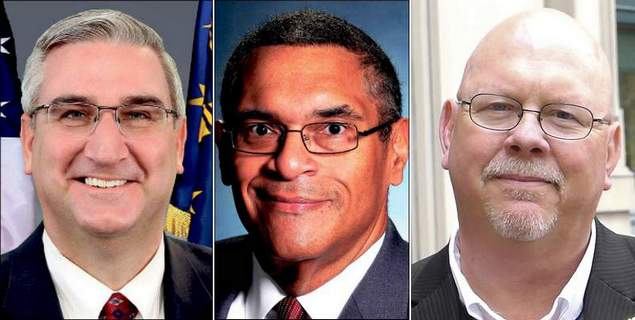 Left: Holcomb; Middle: Meyers; Right: Rainwater