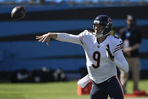 Bears Panthers Football Associated Press Quarterback Nick Foles threw a touchdown and ran for one in the Bears' victory Sunday. (Mike McCarnFRE)