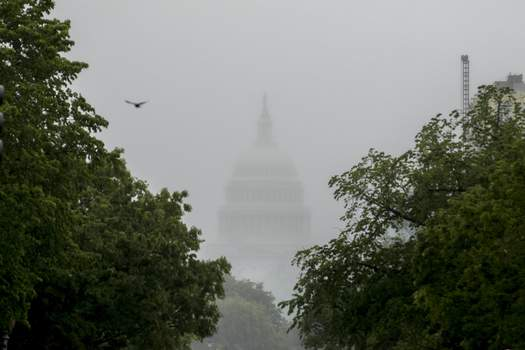 Virus Outbreak Congress FILE - In this May 22, 2020, file photo the Dome of the U.S. Capitol Building is visible through heavy fog in Washington. (AP Photo/Andrew Harnik, File) (Andrew Harnik