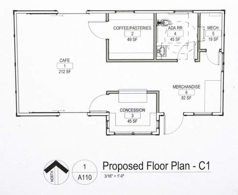 Michelle Davies | The Journal Gazette The floor plan for the James R. Shield Depot, formerly the Craigville Depot.