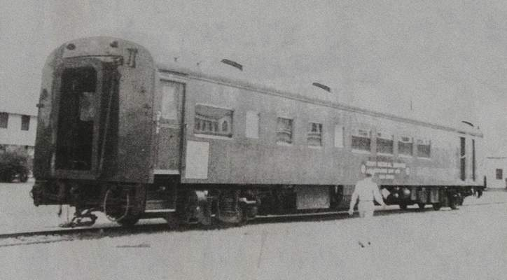 Michelle Davies | The Journal Gazette A photo of the former hospital train car when it was in use. It is being converted into a club car for Headwaters Junction.
