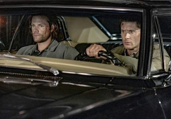 """The CW Jared Padalecki, left, and Jensen Ackles have starred in """"Supernatural"""" for 15 seasons. The finale airs tonight at 9 after a retrospective on The CW."""