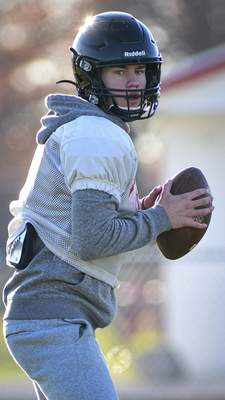 Mike Moore | The Journal Gazette Bishop Luers QB Carson Clark has completed 70% of his postseason passes.