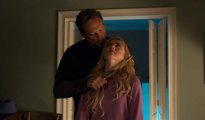"""Universal Pictures  Kathryn Newton and Vince Vaughn star in """"Freaky,"""" the No. 1 movie in the country."""