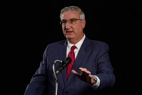 Indiana Republican Gov. Eric Holcomb(AP Photo/Darron Cummings)