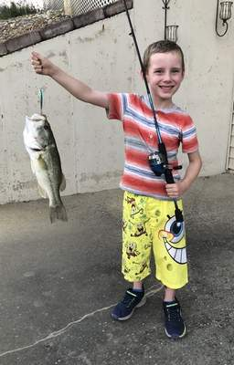 Clay also caught this largemouth bass on his birthday, July 3, in Huntington County.