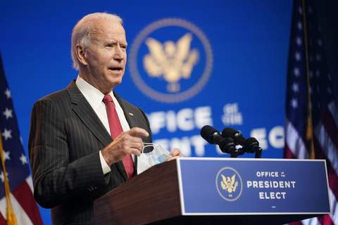 Trump Biden FILE - In this Nov. 19, 2020, file photo President-elect Joe Biden speaks at The Queen theater in Wilmington, Del. (AP Photo/Andrew Harnik, File) (Andrew Harnik
