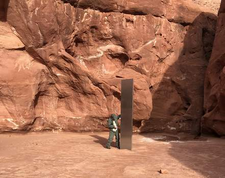 Mysterious Monolith Associated Press
