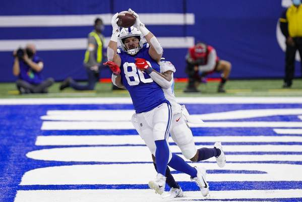 Associated Press Tight end Trey Burton's emergence has made Jack Doyle a nonfactor in the Colts offense recently.