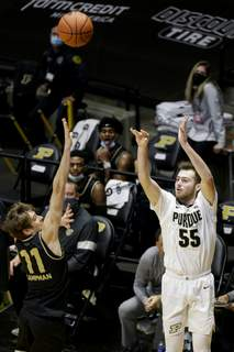 Oakland Purdue Basketball Associated Press Purdue's Sasha Stefanovic scored 20 points, hitting six 3-pointers, and added seven assists in Tuesday's home win. (Nikos FrazierMBR)