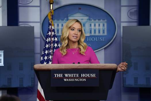 Trump Associated Press White House press secretary Kayleigh McEnany speaks during a briefing Wednesday at the White House. (Evan VucciSTF)